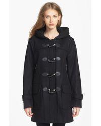 MICHAEL Michael Kors Hooded Wool Blend Toggle Coat - Lyst