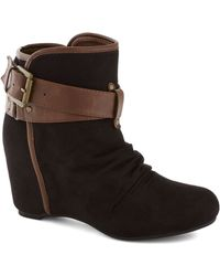 ModCloth | Buckled Up with Style Bootie | Lyst