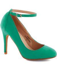ModCloth | Ballroom Glancing Heel in Emerald | Lyst