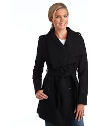 Sam Edelman - Winged Collar Belted Coat - Lyst