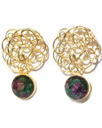 Toosis Ruby Ziosit Free Style Earrings - Lyst