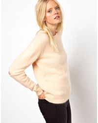 Won Hundred Allison Angora Sweater with Elbow Detail - Natural