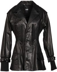 Y-3 Leather Outerwear - Lyst