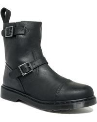 Dr. Martens Asher Low Biker Boots - Lyst