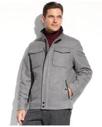 Perry Ellis Wool-blend Coat - Lyst