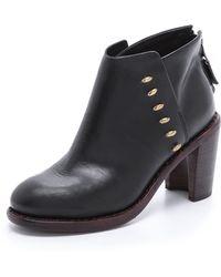 Rag & Bone Ayle Leather Booties - Black