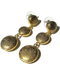 Toosis Dangled Pyrith Gold Earrings - Lyst
