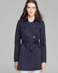 Via Spiga Scarpa Double Breasted Trench Coat - Lyst