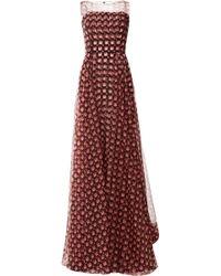 Carolina Herrera Sleeveless Overlay Gown - Lyst