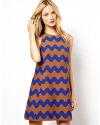 Mademoiselle Tara - Dress in Wave Print - Lyst
