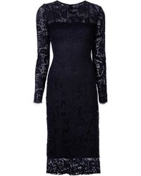 Adam Lippes Lace Floral Dress - Lyst