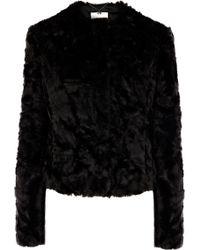 Coast Alfine Fur Jacket - Black