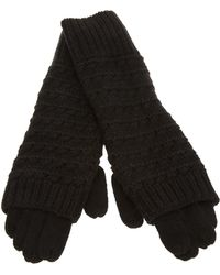 Duffy Knitted Gloves - Black