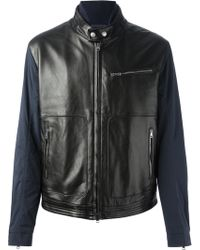 Gucci Leather Front Jacket - Lyst