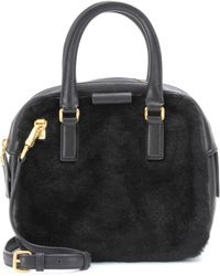 Marc By Marc Jacobs - Clover Shearling and Leather Tote - Lyst