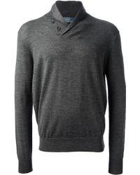 Ralph Lauren Blue Label - Button Collar Sweater - Lyst