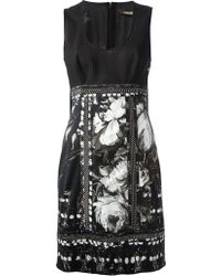 Roberto Cavalli Crochet Knit Scalloped Hem Dress - Lyst