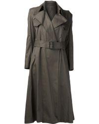 Yohji Yamamoto Belt Coat - Green