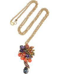 Bijoux Heart - Fruit De Mer Goldplated Swarovski Crystal Necklace - Lyst