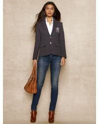 Ralph Lauren Blue Label | Cotton Fleece Blazer | Lyst