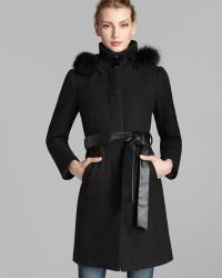 Ellen Tracy - Coat Belted Basket-weave Heathered - Lyst