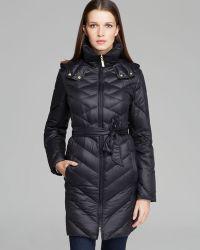 Ellen Tracy Down Coat Belted Packable - Black