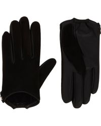 Givenchy - Suede and Leather Gloves - Lyst