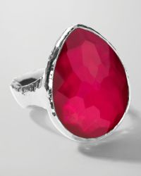 Ippolita - Sterling Silver Wonderland Teardrop Ring in Raspberry - Lyst