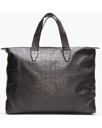 Alexander Wang - Black Croc Embossed Leather Wallie Weekender Duffle - Lyst