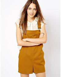 Asos Playsuit in Twill - Lyst