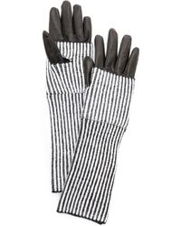 Club Monaco - Abby Striped Gloves - Lyst