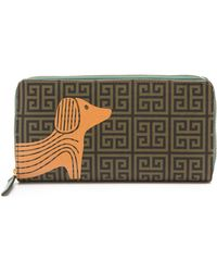 Jonathan Adler - Printed Dog Continential Zip Wallet - Lyst