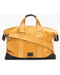 Kris Van Assche - Tan Suede Leather-trimmed Duffle Bag - Lyst