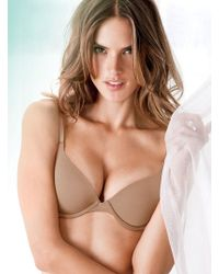 Victoria's Secret Beige Demi Bra - Lyst