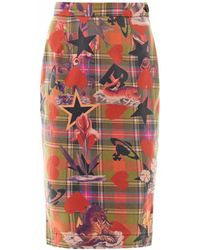 Vivienne Westwood Anglomania - Sea Monster-print Skirt - Lyst