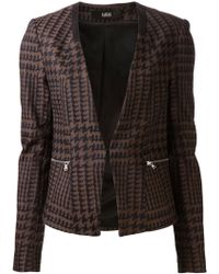 Cut25 by Yigal Azrouël Houndstooth Jacket - Brown