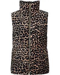 Juicy Couture Bryce Leopard Print Velour Gilet - Multicolour