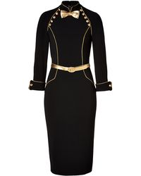 L Wren Scott New Head Mistress Dress In Black Lyst