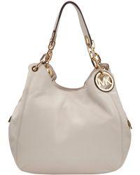 MICHAEL Michael Kors Large Fulton Hobo Bag - White