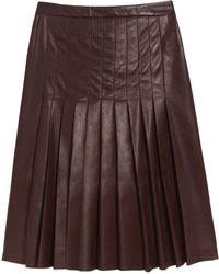 Mulberry Pleated Skirt - Red
