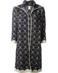 Oscar de la Renta Embroidered Coat - Lyst