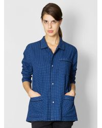 6397 - Chambray Pyjama Top - Lyst