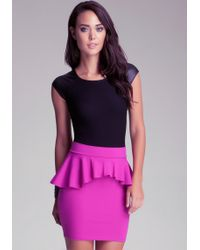 Bebe Leatherette Sleeveless Top - Purple