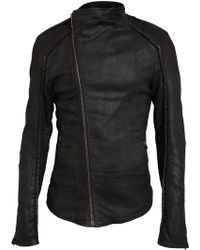 Gareth Pugh - Coated Denim Biker Jacket - Lyst