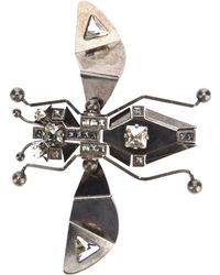 Lanvin Bug Brooch - Metallic