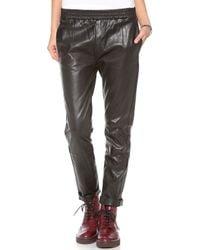 Marc By Marc Jacobs Coated Crinkle Crop Pants - Black