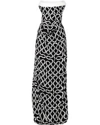 Vivienne Westwood Gold Label Exclusive Ball Tie Squiggle-Print Gown white - Lyst