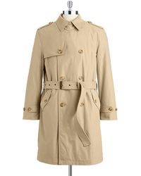 Hart Schaffner Marx Parnell Double-Breasted Belted Trench Smart Coat - Lyst