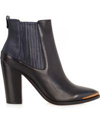 BCBGMAXAZRIA Gerie Twotone Leather Ankle Boots - Black
