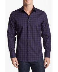 Calibrate Poplin Trim Fit Sport Shirt - Lyst